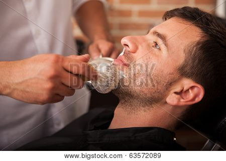 Getting Ready For A Shave