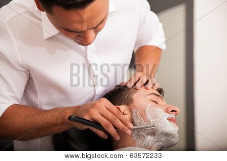Getting My Beard Shaved