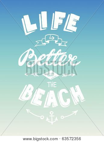 Hand drawn summer quotation