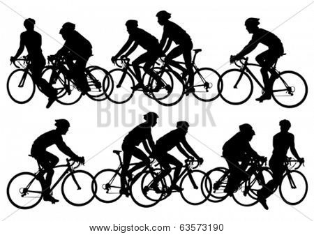 Sport man of cyclists at competitive