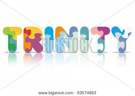 TRINITY written with alphabet puzzle - vector illustration