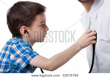 Little Boy On Visit With Doctor