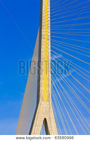 Rama Viii Bridge, Suspension Bridge In Bangkok, Thailand