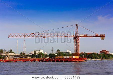 Construction Site Near Chao Phraya River