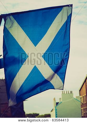 Retro Look Scotland Flag
