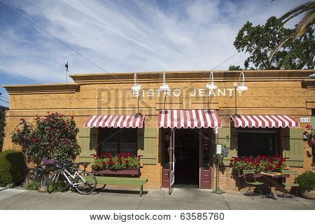 An award winning restaurant Bistro Jeanty in Yountville, Napa Valley