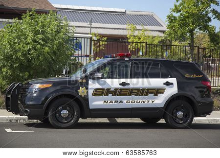 Napa County sheriff's car in Yountville