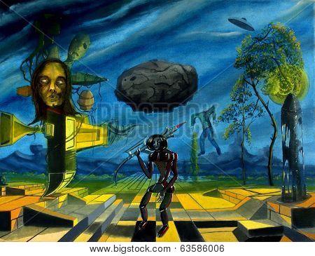 Radioactive area