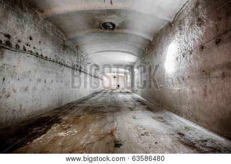 An Old Abandoned Limestone Mine Corridors