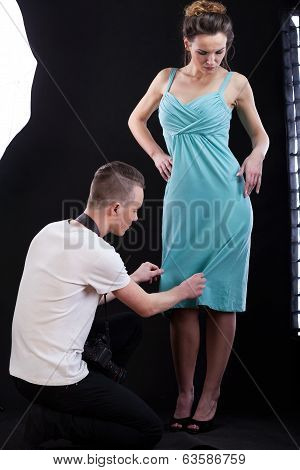 Taking Photo Of A Dress