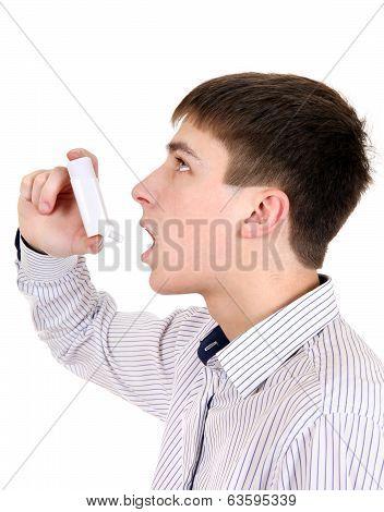 Teenager With Inhaler