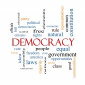 stock photo of bill-of-rights  - Democracy Word Cloud Concept with great terms such as people rights vote and more - JPG