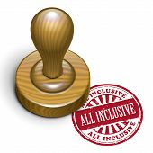 picture of all-inclusive  - illustration of grunge rubber stamp with the text all inclusive written inside - JPG
