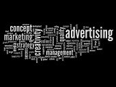 High resolution concept or conceptual abstract advertising and success word cloud or wordcloud isola