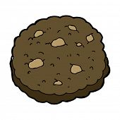 chocolate chip cookie cartoon