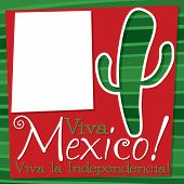 picture of spiky plants  - Viva Mexico Cactus Card In Vector Format - JPG
