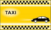 pic of cabs  - yellow taxi background with black cab and taxi symbol light - JPG