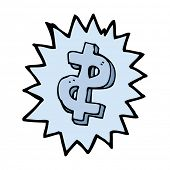 cartoon dollar symbol