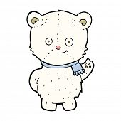 cute cartoon polar bear waving