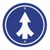image of merge  - Traffic sign Lanes Merging isolated on white background - JPG