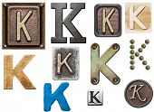 picture of letter k  - Alphabet made of wood - JPG