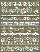 stock photo of paper craft  - Set of Lace Paper with flower vector illustration - JPG