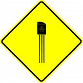 stock photo of transistor  - transistor sign - JPG