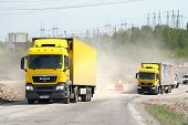 pic of semi trailer  - CHELYABINSK REGION RUSSIA  - JPG