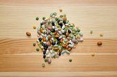 stock photo of pinto  - Mixed dried beans  - JPG