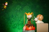 stock photo of masterpiece  - cute puppets handmade - JPG