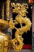 stock photo of taoism  - Dragon the ornament of chinese joss house - JPG