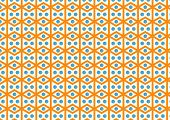 stock photo of parallelogram  - Rhombohedron or parallelogram pattern on pastel color - JPG