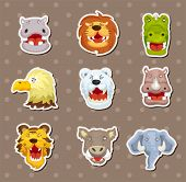 picture of angry bird  - Angry Animal Stickers - JPG