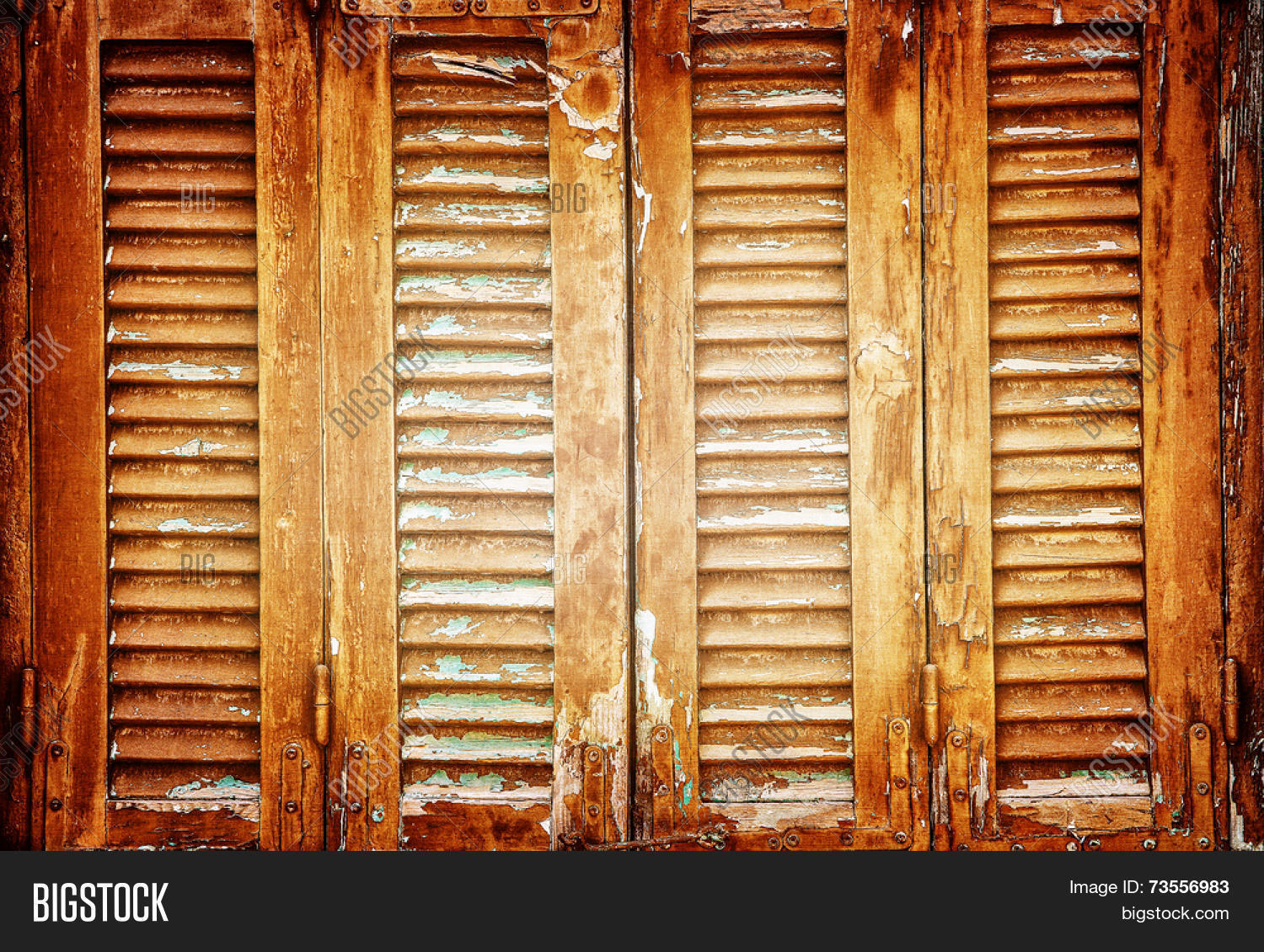 Wood Shutters Closed : Vintage windows shutters background image photo bigstock