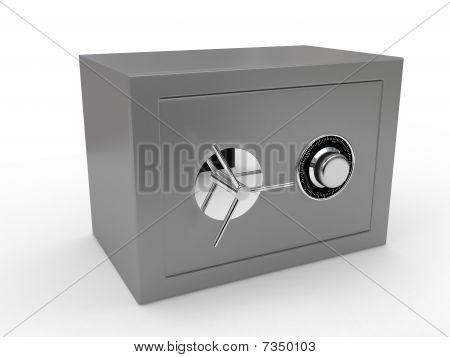 Grey Safe Over White