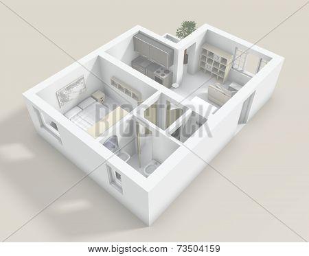 3D Flat