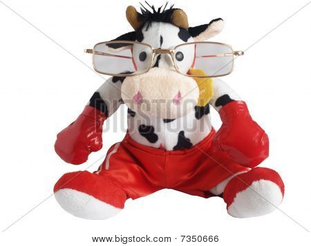 Soft toy a bull the boxer