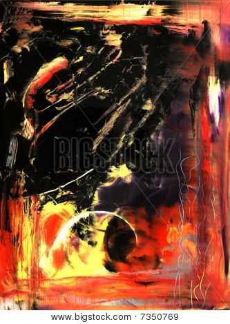 abstrakt auf Glas