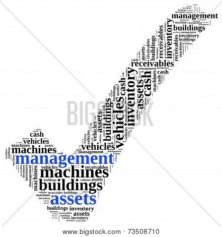 Assets And Liabilities Management. Word Cloud Illustration.