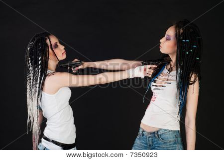 Two Girl With Guns
