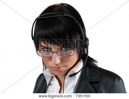 Call Center Operator Isolated