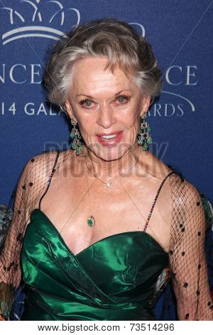 LOS ANGELES - OCT 8:  Tippi Hedren at the Princess Grace Foundation Gala 2014 at Beverly Wilshire Hotel on October 8, 2014 in Beverly Hills, CA
