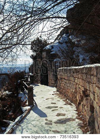 Lermontovs Grotto. Pyatigorsk Landmarks, The Northern Caucas