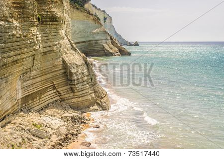 Logas Beach At Corfu Island In Greece