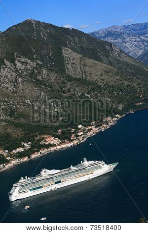 Cruise Ship Serenade Of The Seas, Montenegro. September 23, 2014