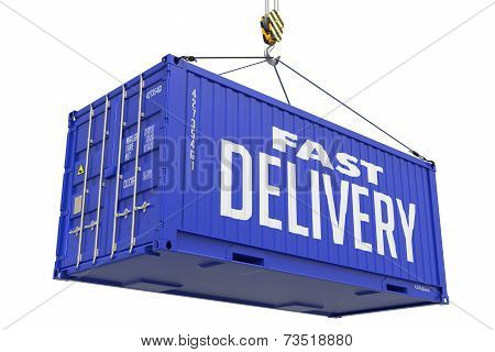 Fast Delivery - Dark Blue Hanging Cargo Container.