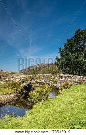 Watendlath Stone Footbridge Vertical