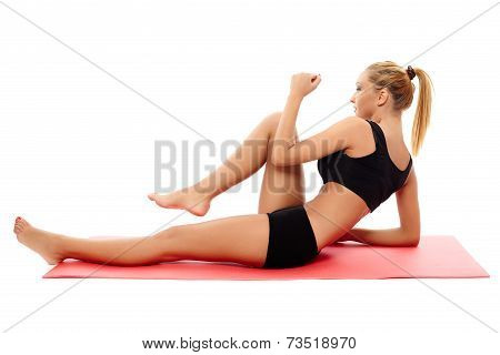 Fitness Girl Doing Abs