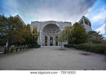 COLUMBUS, OHIO-OCTOBER 5, 2014:  The Ohio State University is home to the Buckeyes who play their home football games at Ohio Stadium, also known at