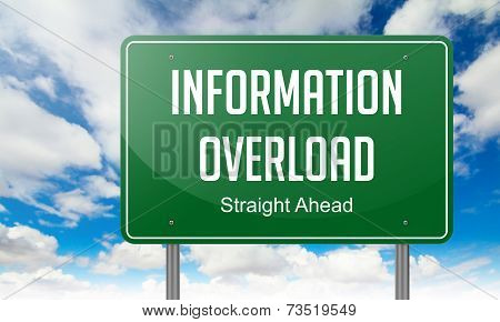Information Overload on Highway Signpost.